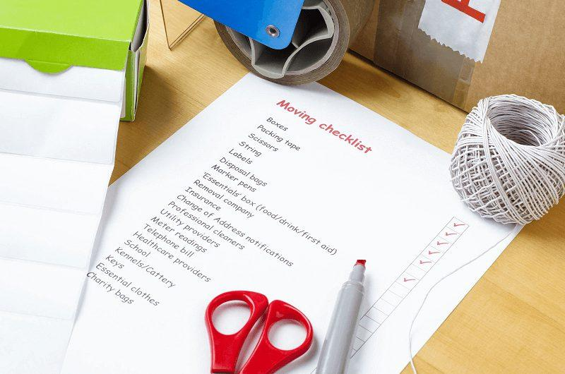Moving Planner Checklist - Moving APT