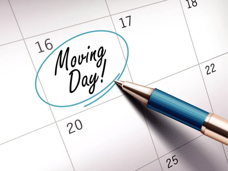 Deciding Moving Date for Out of State Move