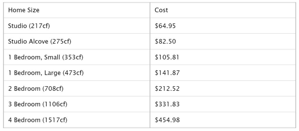 Moving APT - 1 Month Storage Rate - Moving APT