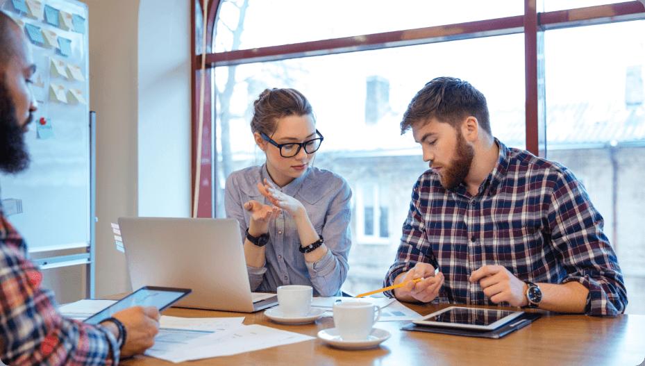 Business People Having Brainstorm